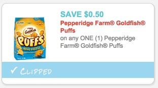 Pepperidge Farm Goldfish Puffs Only $0.49!