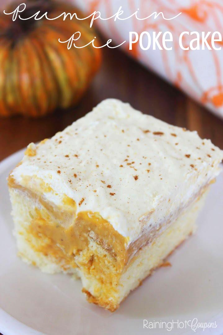 pumpkin pie poke cake Pumpkin Pie Poke Cake