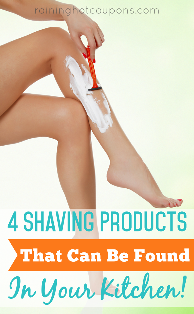 shaving 4 DIY Shaving Products That Can Be Found In Your Kitchen!