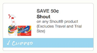 *HOT* Target: Shout Bottles Only $0.62!