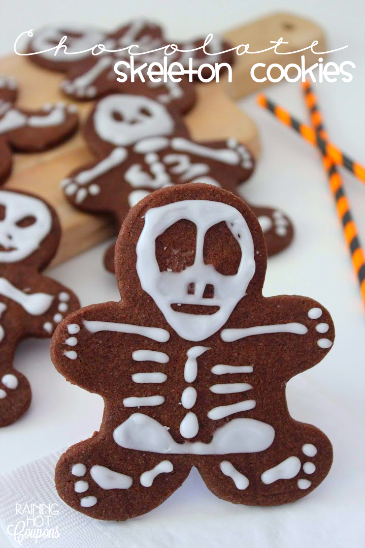 skeleton cookies Chocolate Skeleton Cookies