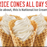 Half Price Cones at Sonic (9/22 Only)!