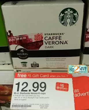 star1 *HOT* Starbucks K Cups Only $0.37 at Target!