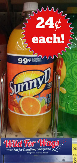 sunny dred3 5w Walgreens: Sunny D Citrus Punch As Low As $0.24