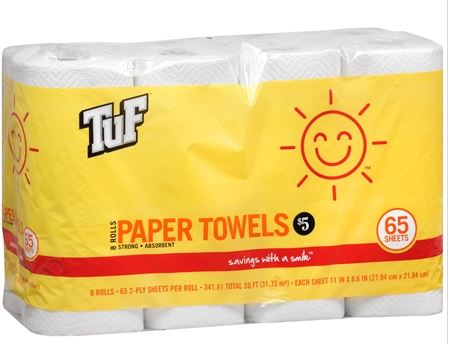 walgreens tuf paper towels deal Walgreens: Sunny Smile Paper Products As Low As $0.19 Per Roll (Thru 9/13)