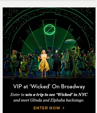 Coupons for wicked broadway show