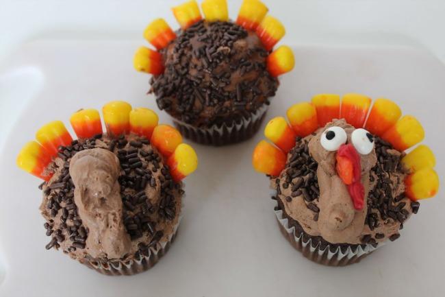 54 Turkey Cupcakes