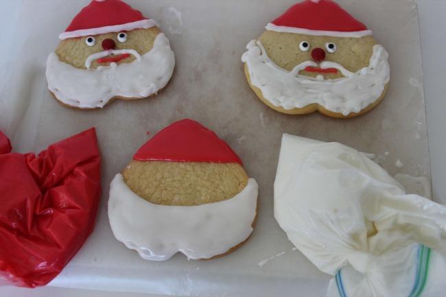 64 Santa Sugar Cookies (Homemade Cookie Recipe)