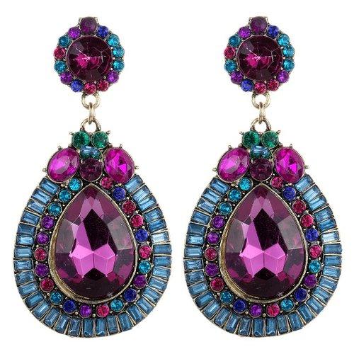 71hnCdwKq0L. UY500  Amazon: Colorful Crystal Waterdrop Shape Dangle Earrings Only $5.06 Shipped (Reg. $20.25)