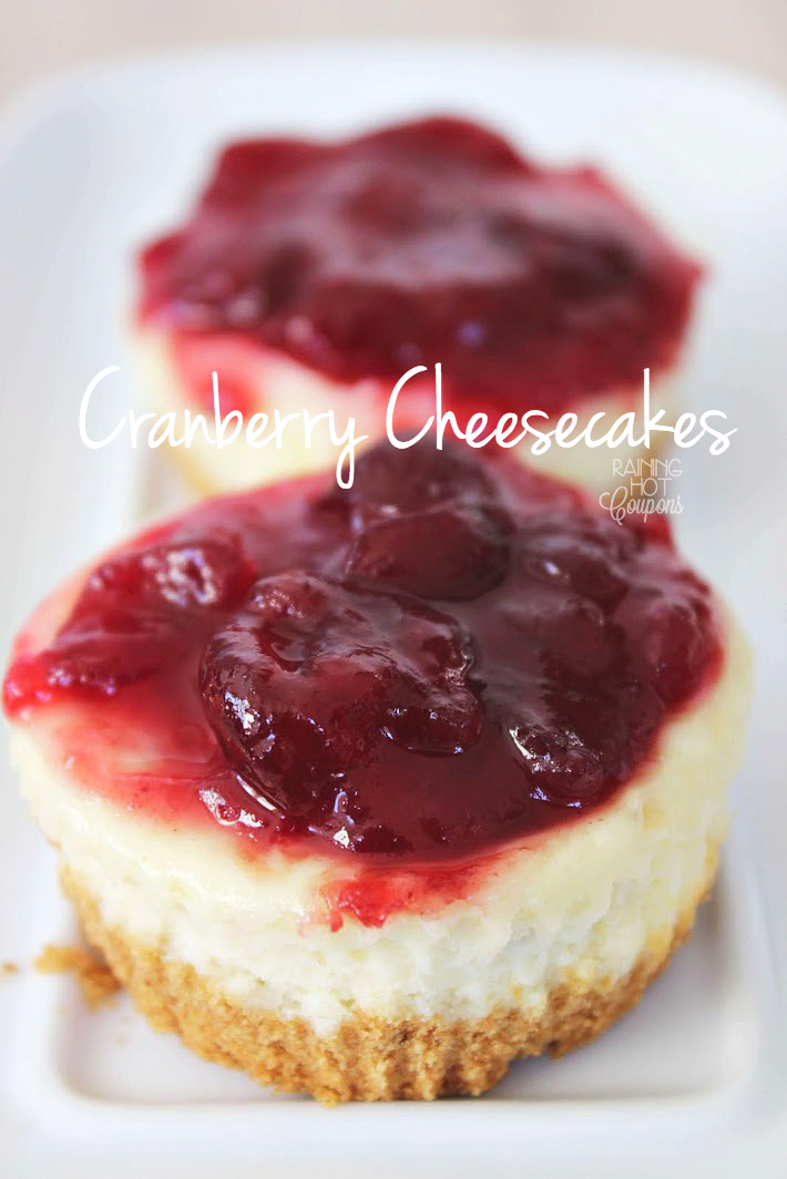 CRANBERRY CHEESECAKES
