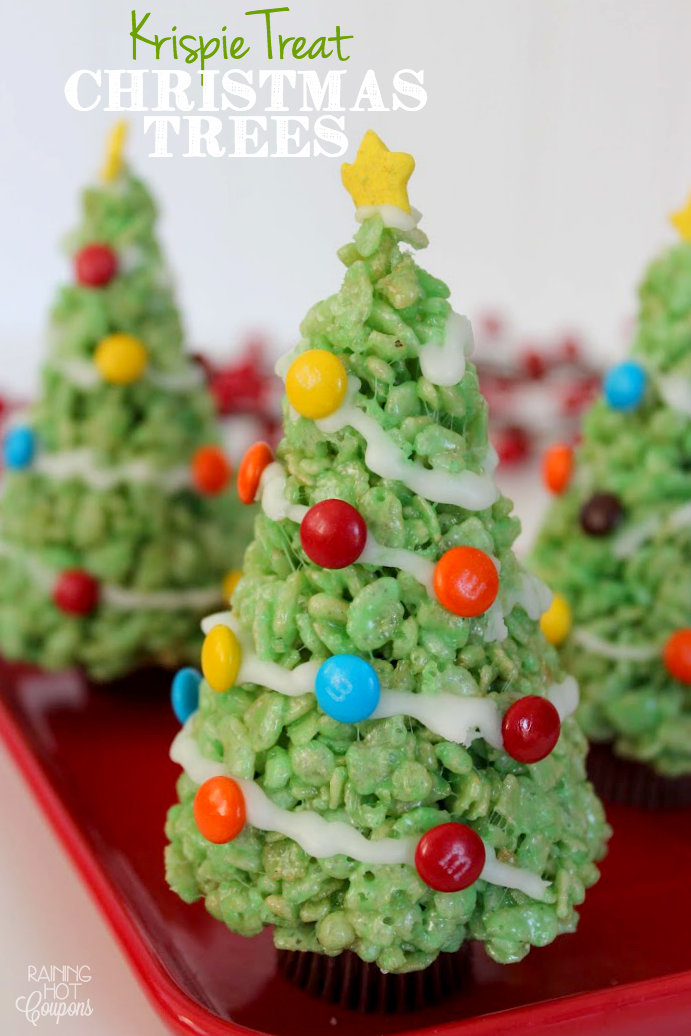 Christmas trees Krispie Treat Christmas Trees