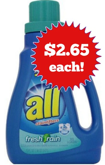 all *HOT* Walgreens: All Laundry Detergent as low as $2.50!