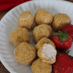 Simple Strawberry Cheesecake Bites