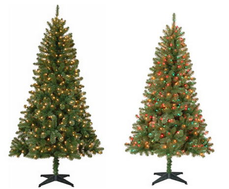 christmas *HOT* Holiday Time 6.5 ' Pre Lit Christmas Trees ONLY $39 Shipped!