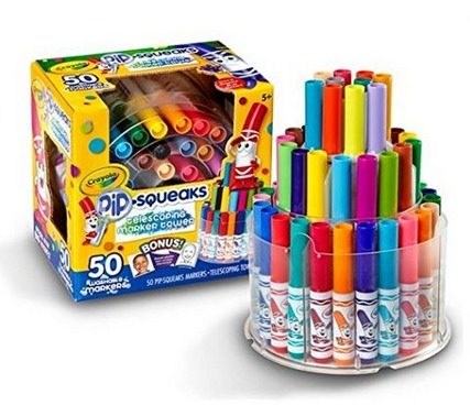 Crayola Telescoping Pip Squeaks Marker Tower 50 Set Only $13.41 (Reg. $19.99)!