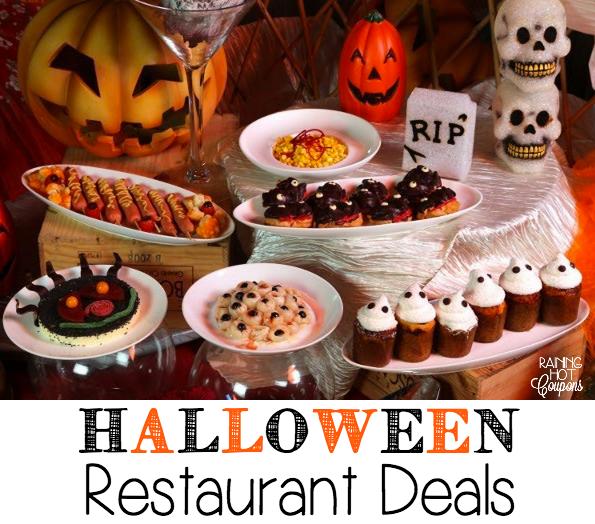 Halloween deals restaurants 2018