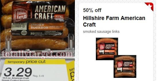 hillshire farm Target: Hillshire Farm American Craft Smoked Sausage Only $0.64