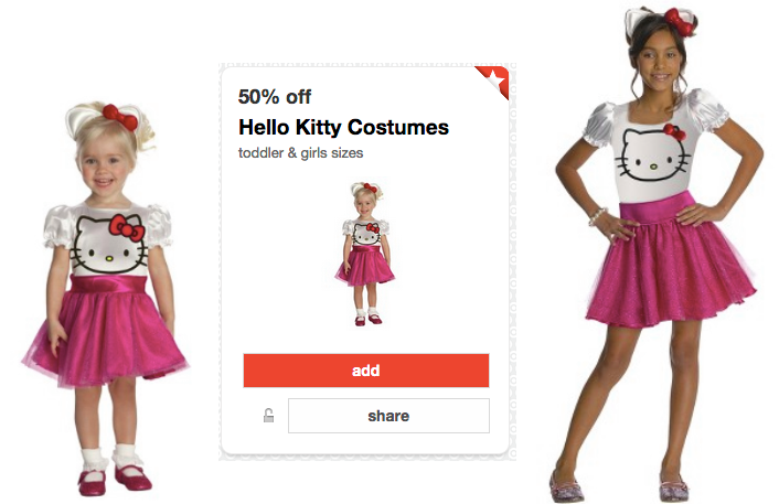 hwllo *HOT* Target: Buy 1 Get 1 FREE Costumes = ONLY $7.50 each (Reg. $30!)