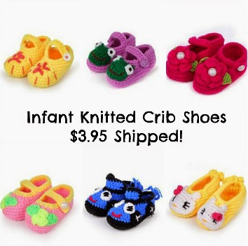Knitted Crib Soft Handmade Shoes for Babies Only $3.95 Shipped!