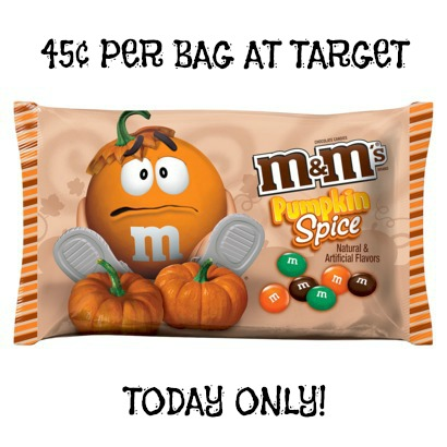 m *HOT* Pumpkin Spice M&Ms LARGE Bags Only $0.45 (TODAY ONLY!)