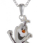 """Amazon: Disney Girls' """"Frozen"""" Silver-Plated Olaf Pendant Necklace Only $12 (Reg. $21)"""