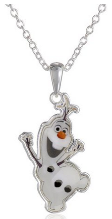 necklace2 Amazon: Disney Girls Frozen Silver Plated Olaf Pendant Necklace Only $12 (Reg. $21)