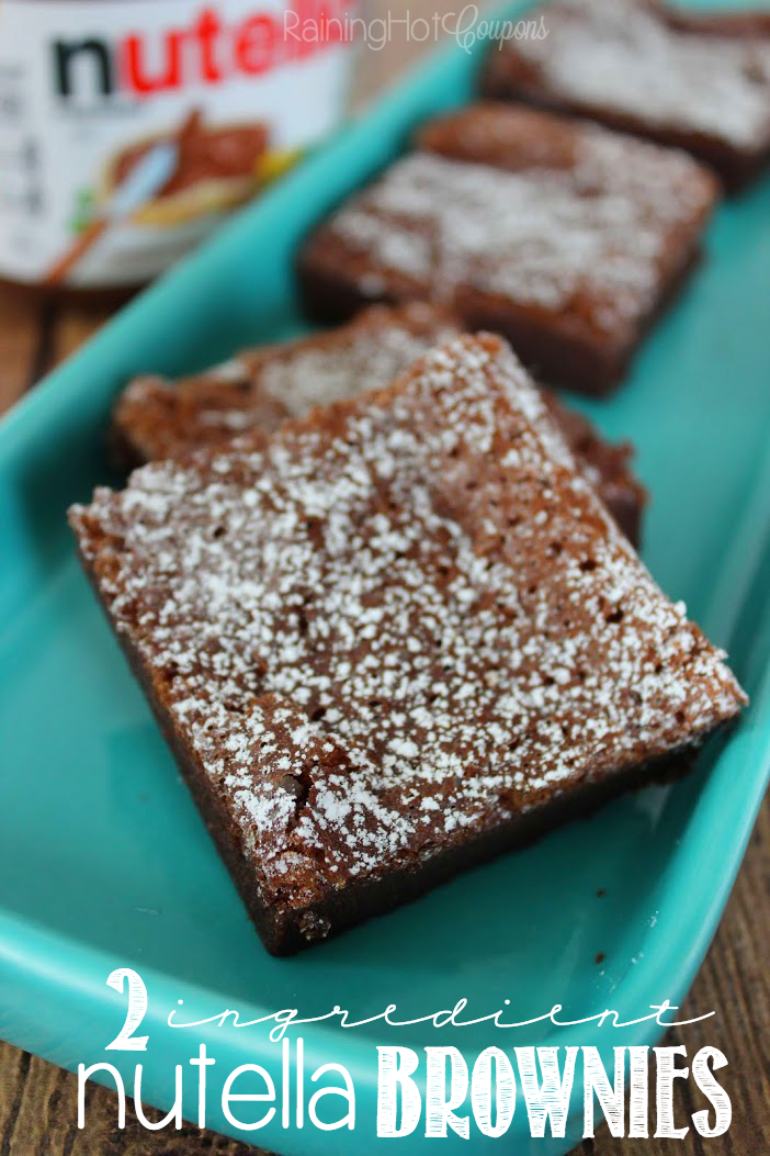 nutella brownies 2 Ingredient Nutella Brownies