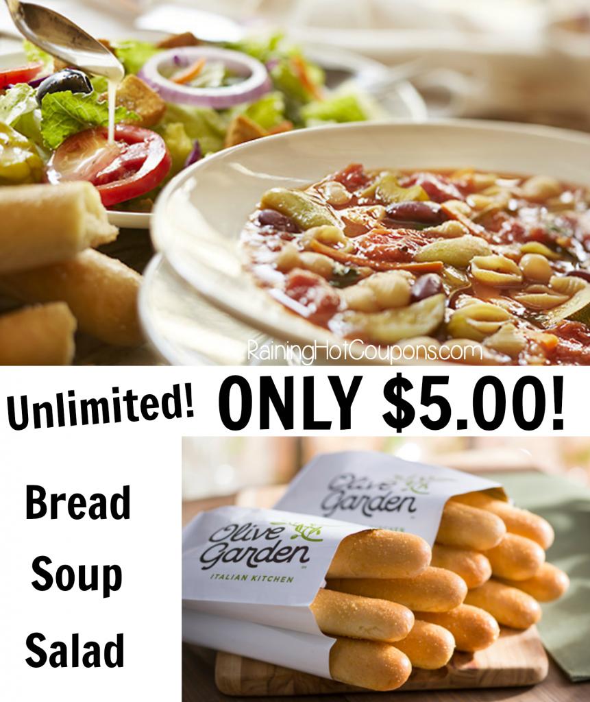 olive garden coupon - Olive Garden Soup Salad And Breadsticks