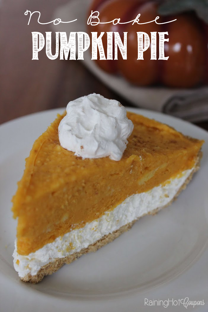 pumpkin pie 2 Layer No Bake Pumpkin Pie