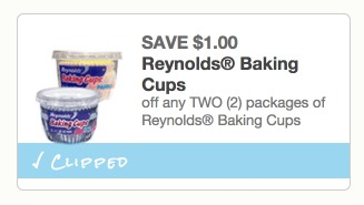 Reynolds Baking Cups Only $0.42!