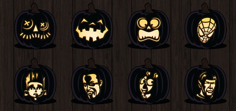 Free printable pumpkin carving designs