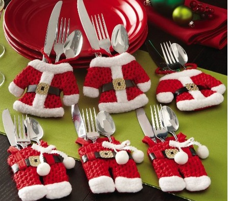 Santa Suit Christmas Silverware Holder Pockets Only $6.92 + FREE Shipping!