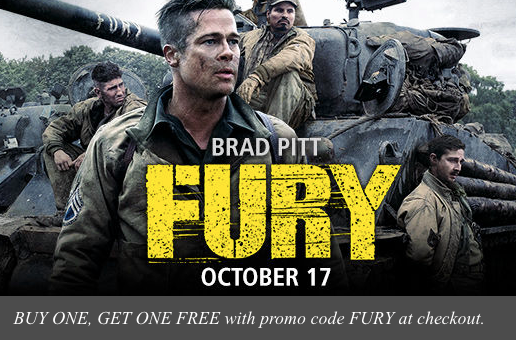 screen shot 2014 10 09 at 5 37 41 am Buy 1 Get 1 FREE Fury Movie Tickets on Fandango (In Theaters October 17th)