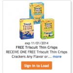 Kroger: Free Box of Triscuits Thin Crisps Crackers (Must load coupon today)!