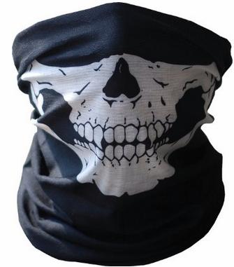 skull Black Neoprene Winter Snowboard Ski Half Face Mask Only $1.34 + Free Shipping