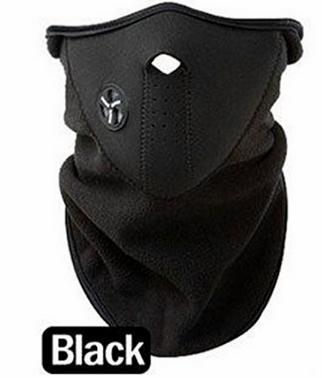 skull2 Black Neoprene Winter Snowboard Ski Half Face Mask Only $1.34 + Free Shipping