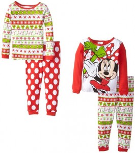 disney little girls holiday minnie mouse 4 piece pajama set 2299 reg 4400