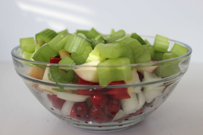 422 Cranberry Apple Walnut Stuffing (Thanksgiving Recipe)