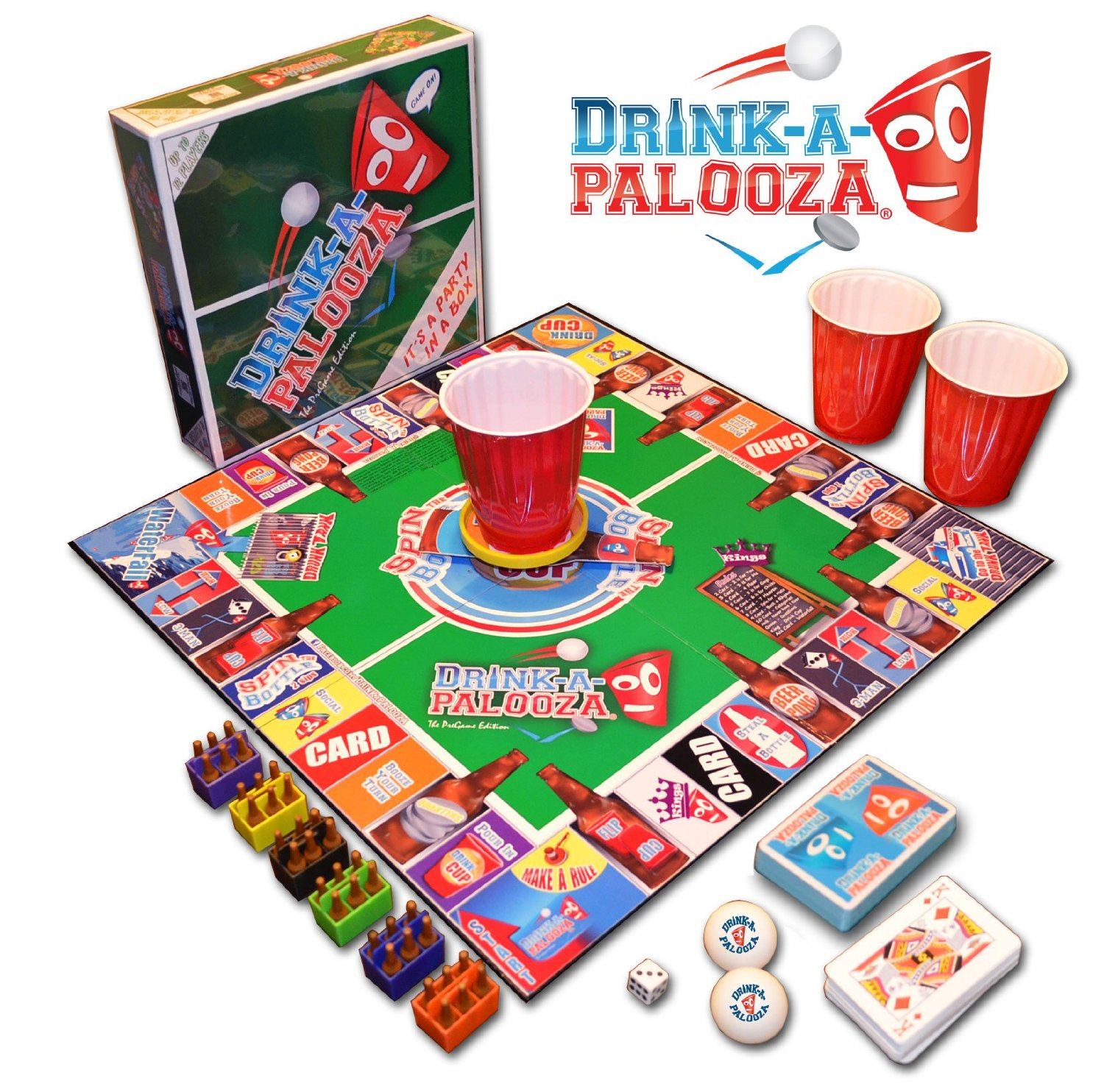 Adult drinking board games