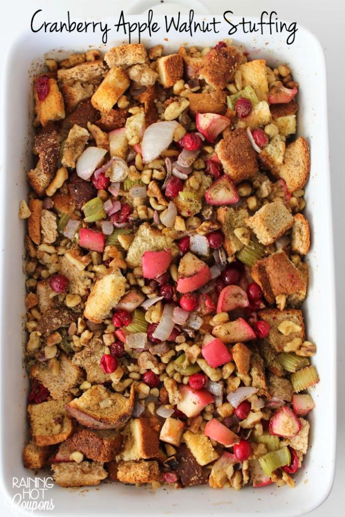 Cranberry Apple Walnut Stuffing