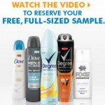 FREE Full-Sized Dove, Degree or Axe Dry Spray Antiperspirant!
