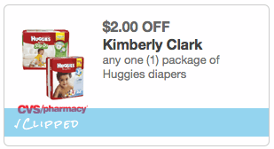 c CVS: *HOT* Jumbo Pk. Huggies Diapers ONLY $2.99 (Reg. $9!)