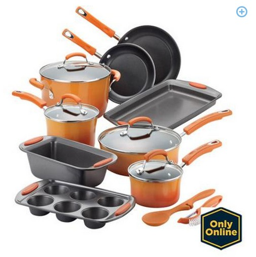 Rachael Ray 15 Piece Hard Enamel Non Stick Cookware Set ONLY $89 (Reg. $169.99) + FREE Shipping!