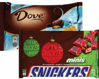 dove Mars Holiday Candy Bags Only $1.00 Each at CVS (11/23 11/26)