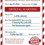 FREE Elf Warning for Naughty Kids