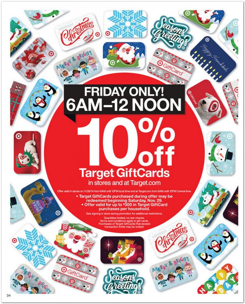(EXPIRED) Target gift cards 10% off on 12/2. Leverage w/ 20% off coupon