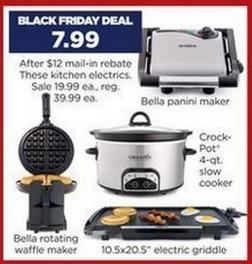 *HOT* FREE Crock Pot, Waffle Maker, Panini Maker, Electric Griddle + FREE Shipping!