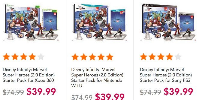 Disney Infinity: Marvel Super Heroes 2.0 Edition Starter Pack (for all systems) ONLY $39.99 (Reg. $74.99)