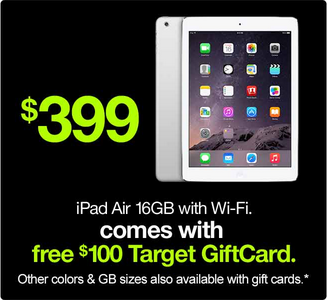 ipad *HOT* iPad Air (White or Black) ONLY $279.99 Shipped (Reg. $399.99!)