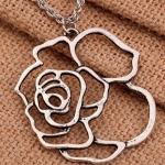 Amazon: Vintage Tibetan Silver Big Hollow Flower Necklace Only $3.98 Shipped (Reg. $15.91)